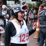 Morgan at the finish line.